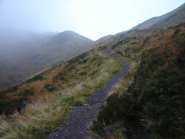 Approaching the summit of Bealach Dubh