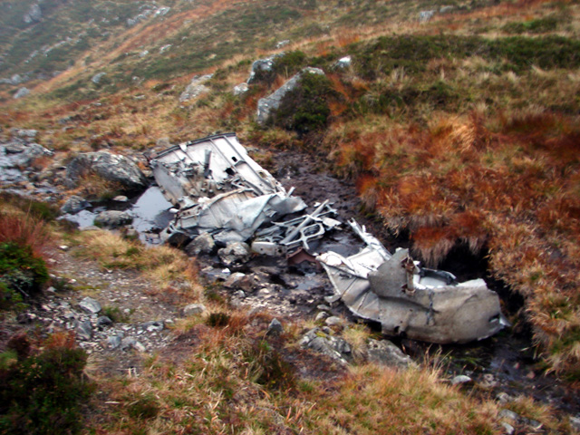 Aircraft wreckage in Bealach Dubh