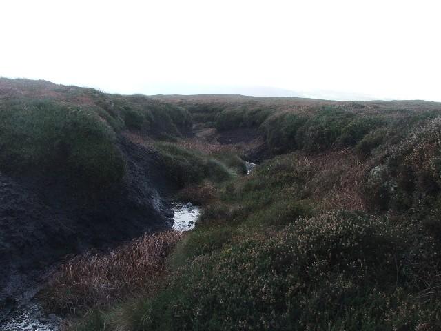 Peat Gulley on Yockenthwaite Moor.