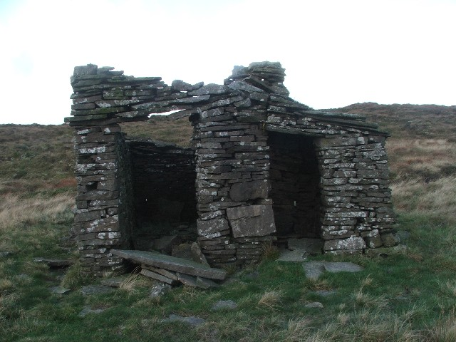 Front View of Small Dwelling on Yockenthwaite Moor.
