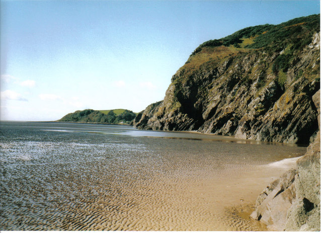 The beach at  Portling Bay