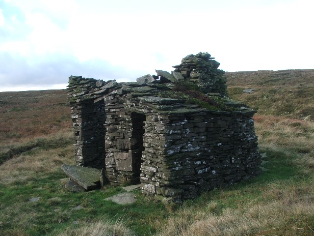 Side View of Small Dwelling on Yockenthwaite Moor.