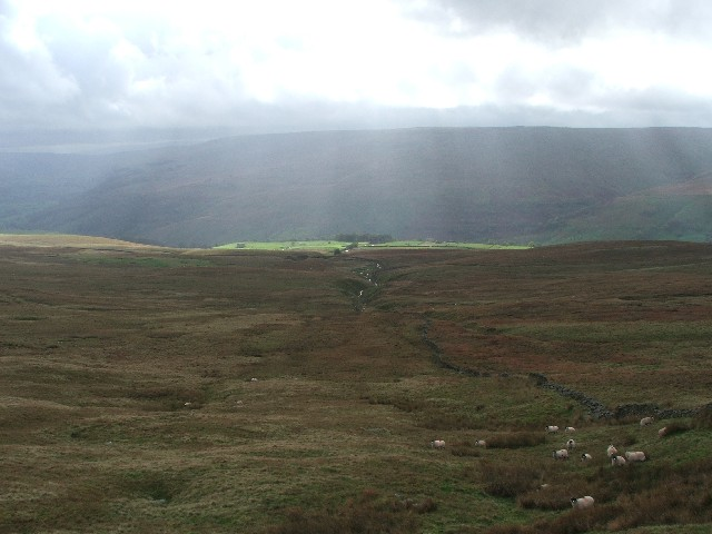 Looking Down to Langstrothdale from Chapel Moor.