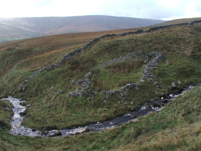 Sheepfold next to Strans Gill.