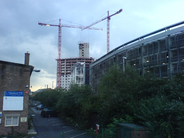 New Buildings on Armouries Drive.