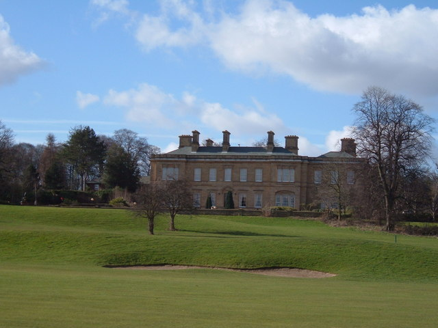 Oulton Hall overlooking the golf course