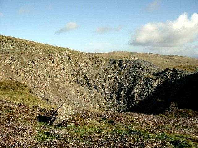 Old slate quarry at Craig Lea