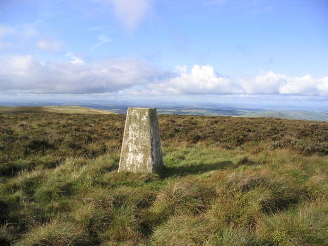 The trig point on Lamb Hill