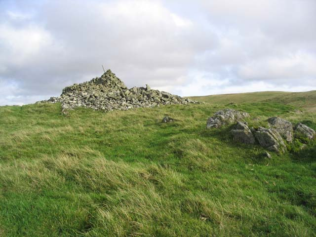 The summit cairn on Standard Knowe in the Cheviots