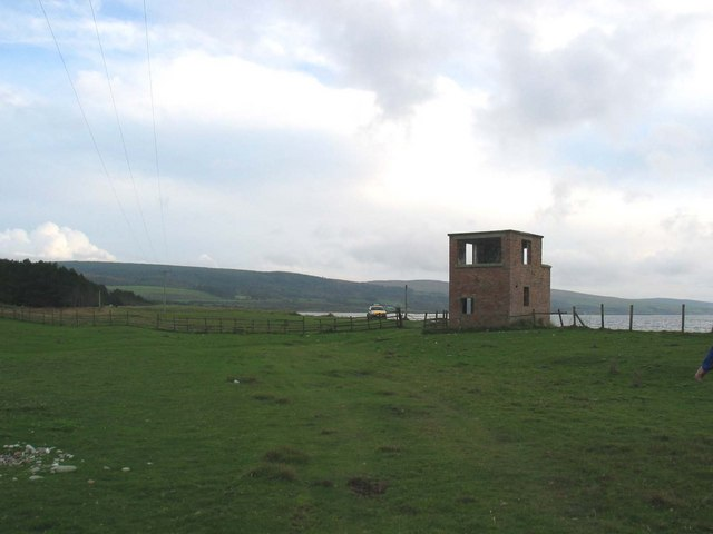 Rhunahaorine Point WW2 lookout post.