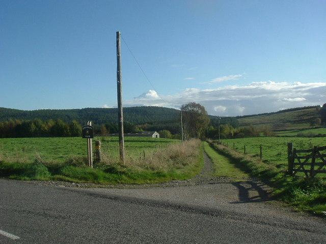 Track to Greenburn farm