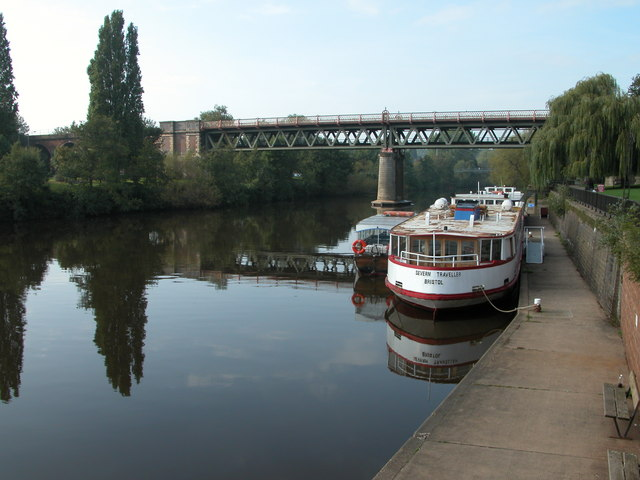 Railway bridge over the river Severn, Worcester