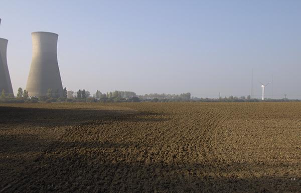 Towards Richborough power station, Kent
