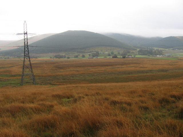 Towards Elvanfoot and Wellshot Hill