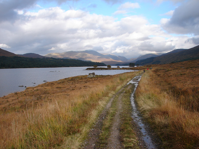 Track beside Loch Ossian