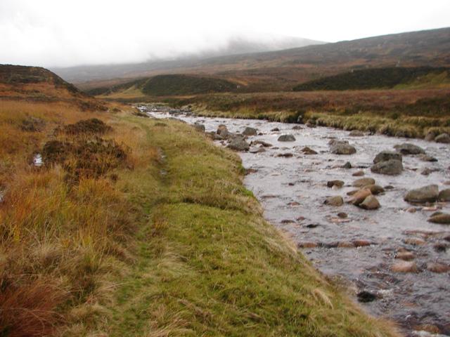 Path beside Uisge Labhair