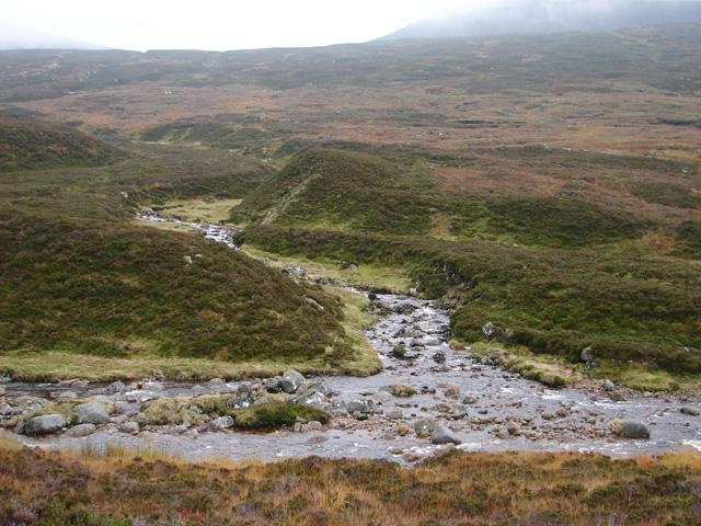 Allt Meall a' Bhealaich flows into Uisge Labhair