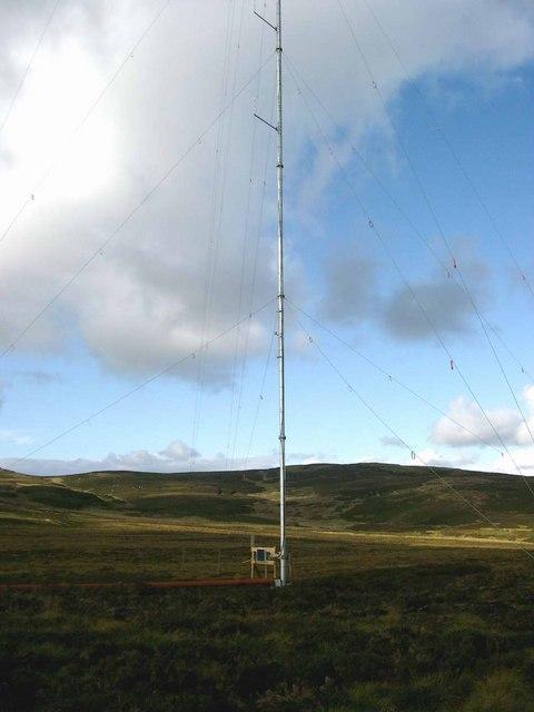 Windfarm testing near Middle Hill