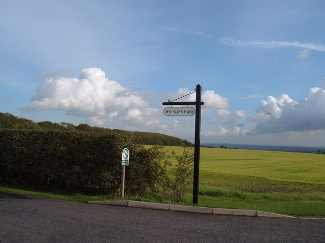 Sign post to Whinleys Farm
