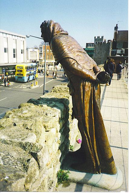 Statue on Southampton City Walls