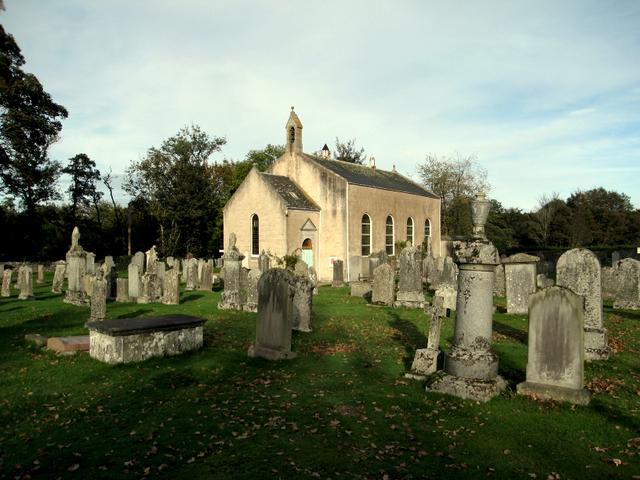 Kirkton of Durris church and kirkyard.