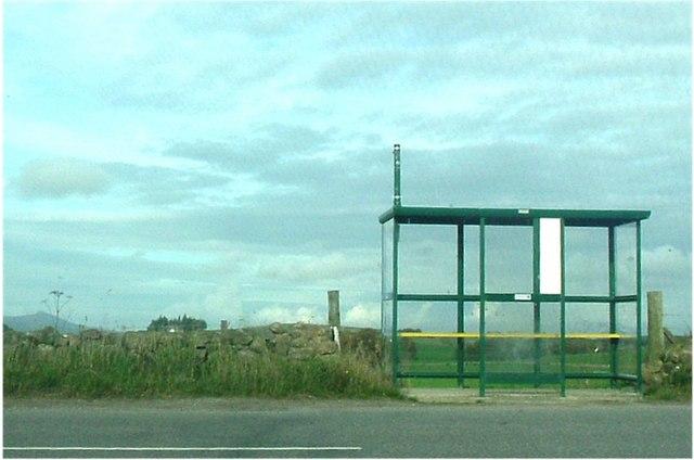 Rural bus shelter.