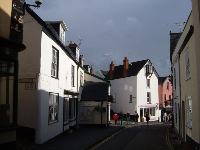 Southern end of Fore Street, Topsham