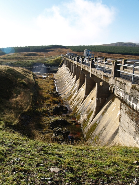 Overflow channel,  Loch Ericht Dam
