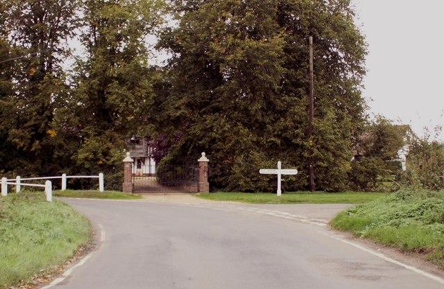 Road junction near Little Henham