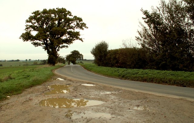 Debden Road looking towards Saffron Walden, Essex