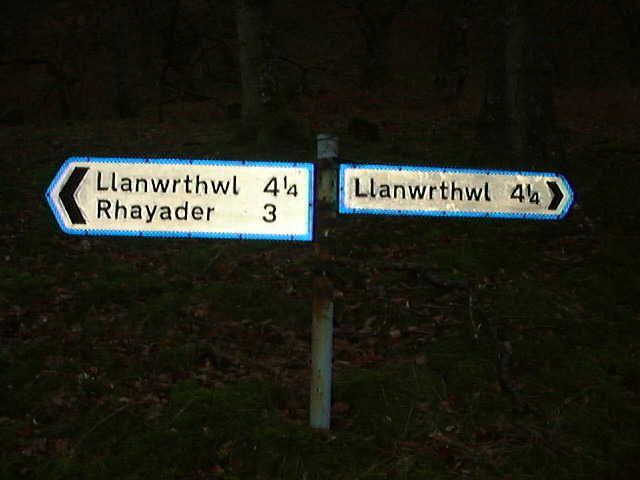Confusing road sign at Elan Village