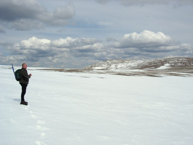 May snowfield on Einich Cairn