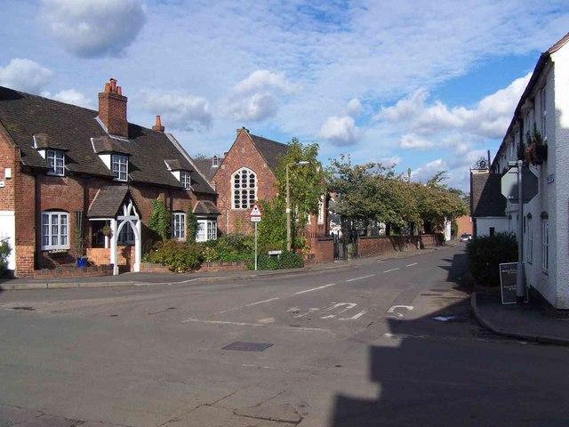 Main Street, Whittington At Junction With Church Street