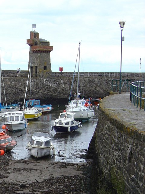 Lynmouth Harbour and Rhenish Tower