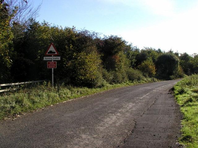 Unusual road warning sign