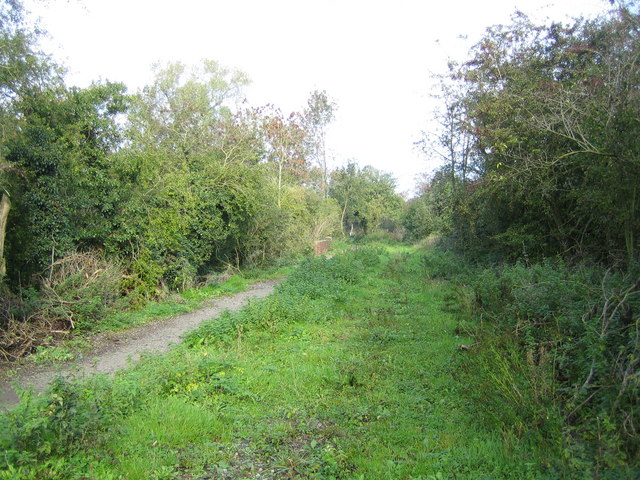 Cricklade: Dismantled railway line