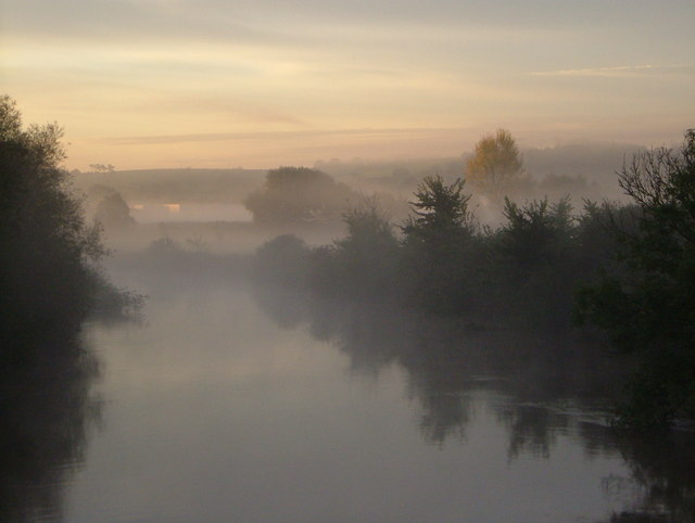 River Exe in mist
