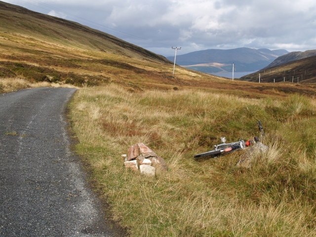 Highest point on the Coire Lodge road.