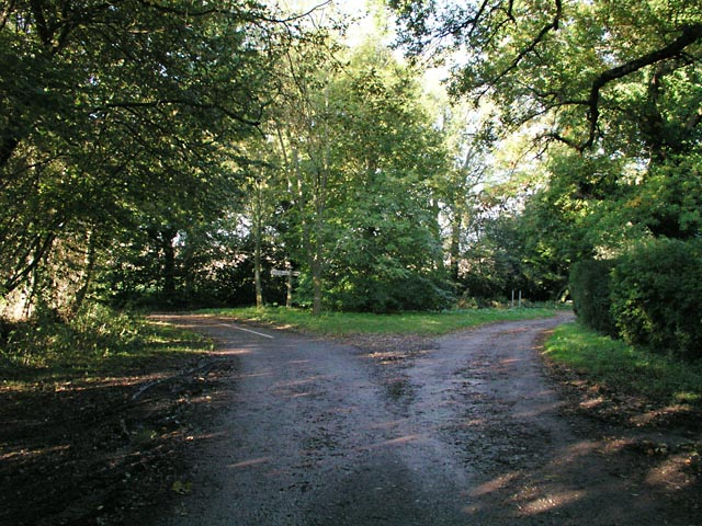 Junction of Mutton's Lane, Newhouse Lane and Park Lane