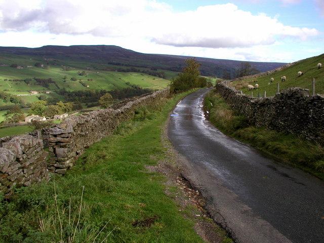 Minor road above Swaledale
