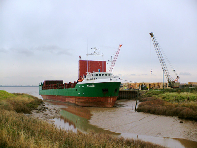 """Natali"" discharging at Barrow Haven"