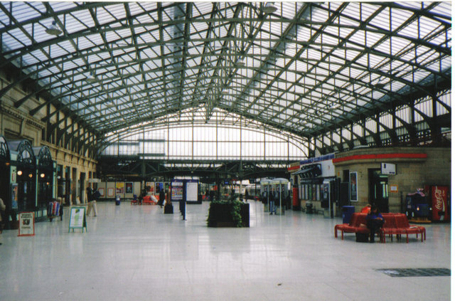 Inside Aberdeen railway station
