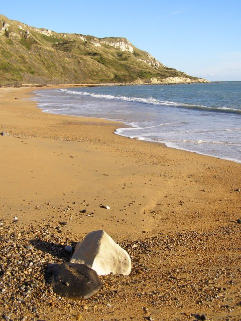 View from Ringstead Beach towards White Nothe