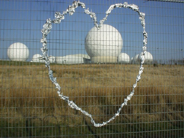 Security fence and Radomes. Menwith Hill Spy Base