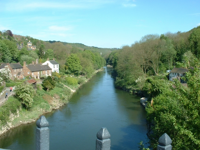 Downstream from the ironbridge