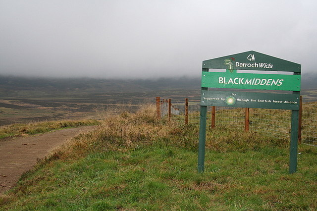 The lane to Blackmiddens.
