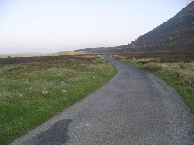 Road at Achlean, Glen Feshie.