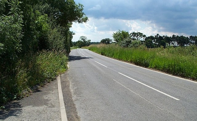 Road between Wheldrake and Thorganby