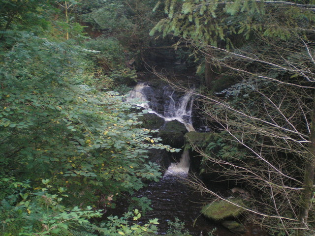 Fairy Loop Waterfall at Byreburn near Canonbie