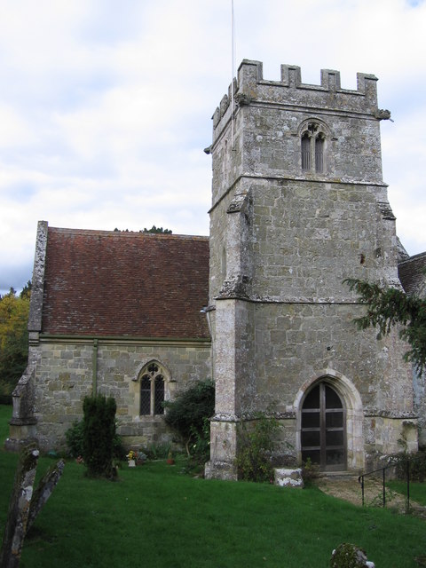 A closer view of Compton Church